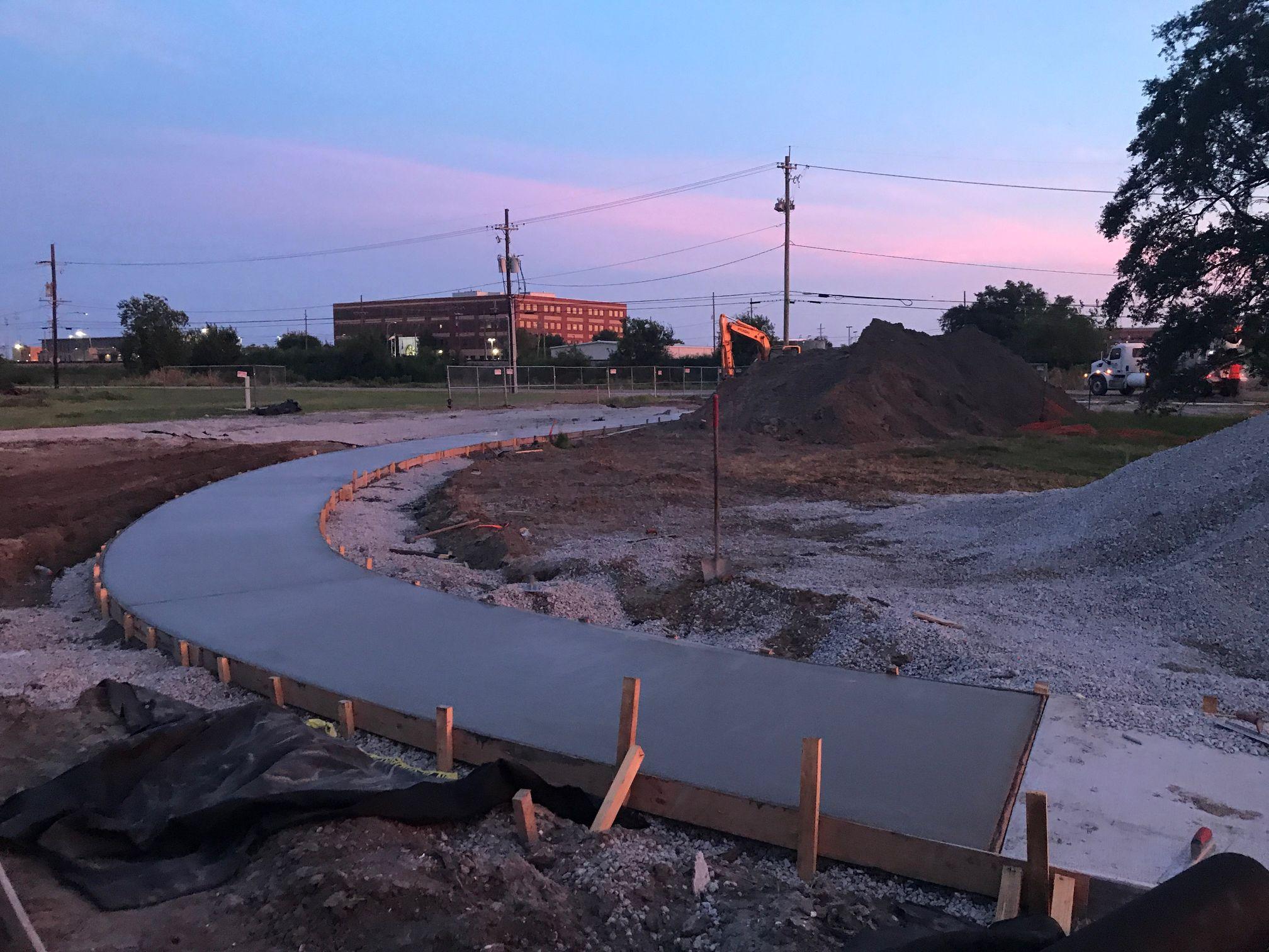 Joe Bart Walking Path Concrete Pour5